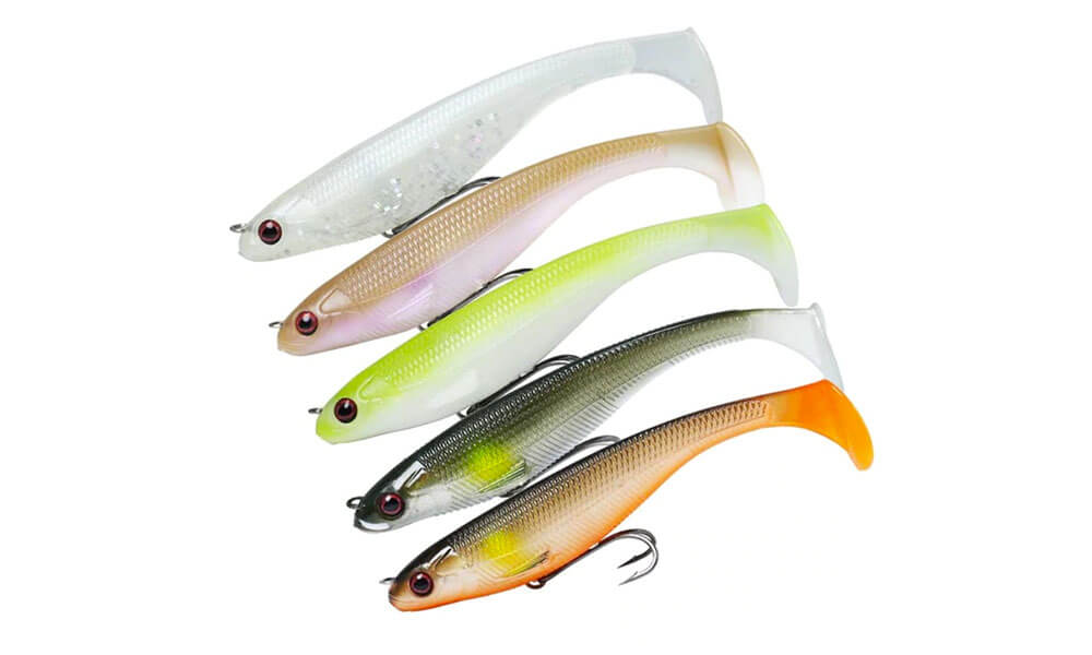 Soft Plastic Fishing Lure Jerk Shads Grub Worm Flathead Bream Cod Tackle lures