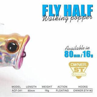 Fish Inc Fly Half 80mm popper