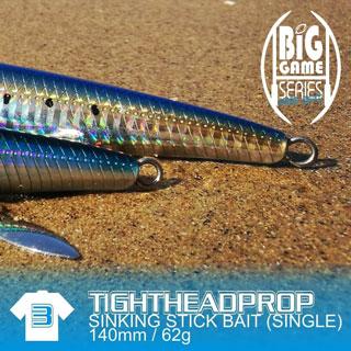 Fish Inc Tighthead prop 140mm stickbait