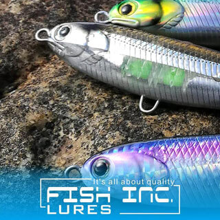 Fish Inc Wng 120mm stickbait fitted with Owner Trebles
