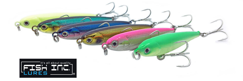 Fish Inc Wng 87mm stickbait fitted with Owner Trebles